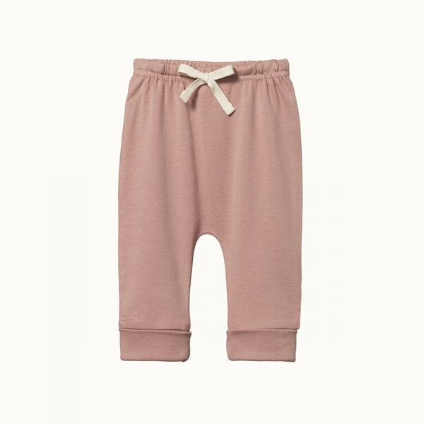 Organic Cotton Drawstring Pants - Camellia