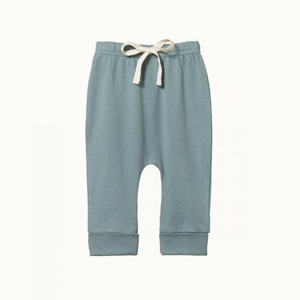 Organic Cotton Drawstring Pants - Lake