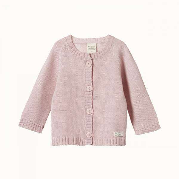 Merino Knit Cardigan - Rose Bud