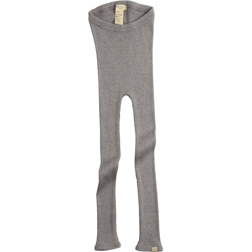 Minimalisma Silk/Cotton Bieber Rib Pants - Grey Melange