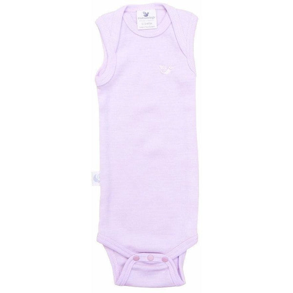 Organic Merino Rib Singlet Body - Dusty Rose