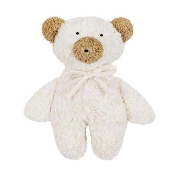 Organic Rattle Teddy - White