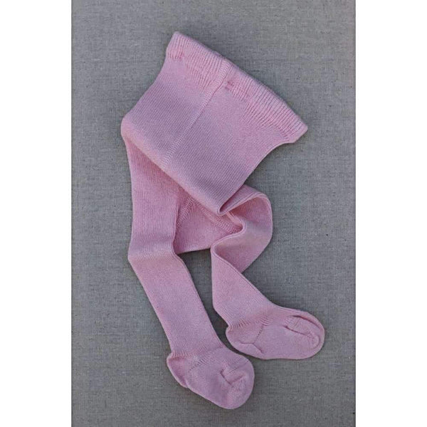 Selana Thick Organic Cotton Baby Tights - Rose