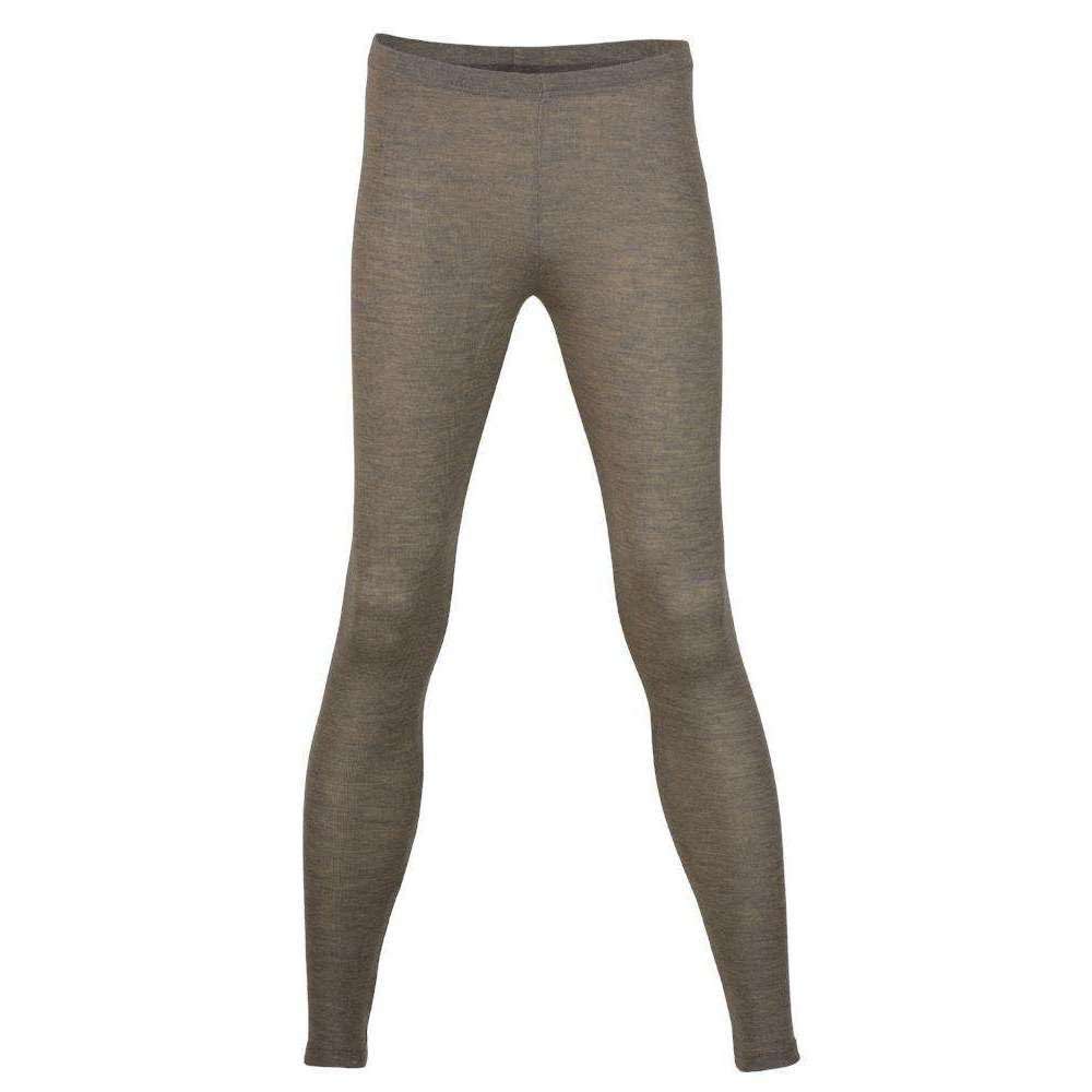 Womens Merino Wool & Silk leggings - Walnut