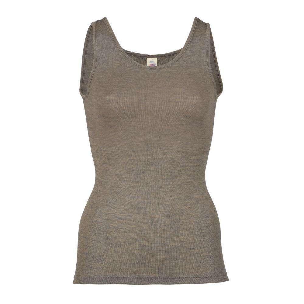 Engel Womens Merino Wool & Silk Singlet - Walnut