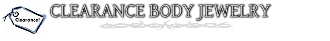 Clearance Body Jewelry / Discount Body Jewelry