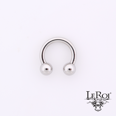 "LeRoi SS Internally Threaded Circular Barbell with Steel Balls (over 1"" diameter)"