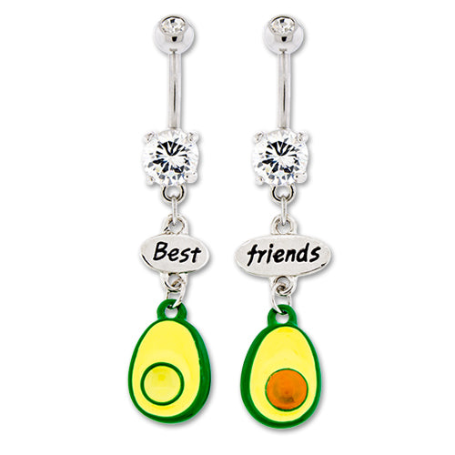 Metal Mafia Avocado Best Friends Belly Ring Set (BNABFFAVO)