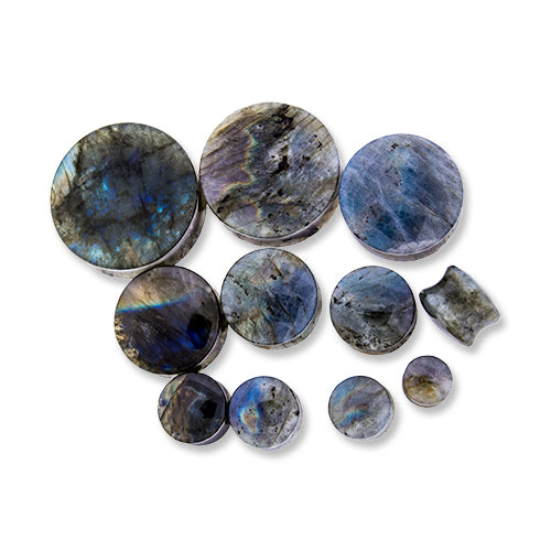 Metal Mafia Labradorite with Medium Reflection - PAIR - (PLABM)