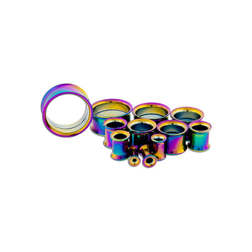 Metal Mafia RAINBOW ANODIZED INTERNALLY THREADED TUNNELS (RBTTI)