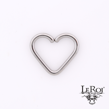 LeRoi Stainless Steel Heart Shaped Seamless Ring