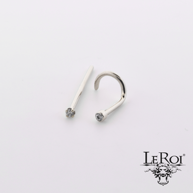 LeRoi Ti Nostril Jewelry with Gem