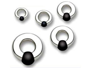 Body Circle SS Rubber Ball and Socket Ring