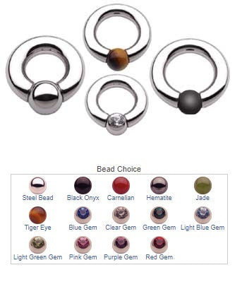 Body Circle SS Ball and Socket Ring