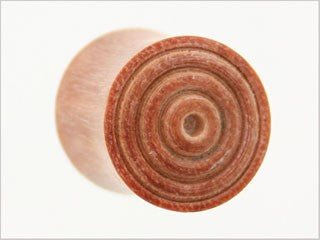 Tribalectic Coconut Wood Design Plug: Circles