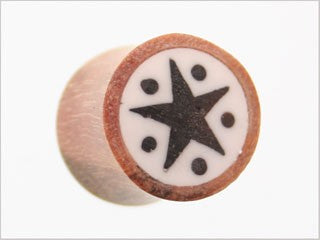 Tribalectic Coconut Wood Design Plug: Star