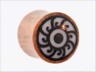 Tribalectic Coconut Wood Design Plug: Rosette