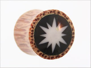 Tribalectic Coconut Wood Design Plug: Sunburst