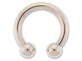 Tribalectic SS Discount Externally Threaded Circular Barbell with Steel Balls