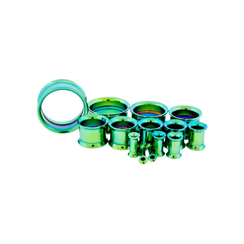 Metal Mafia GREEN ANODIZED ANODIZED INTERNALLY THREADED TUNNELS (GRTTI)