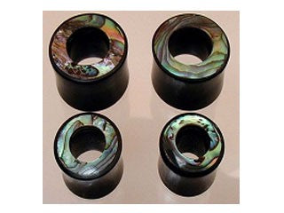 Tribalectic Horn Tunnel with Abalone Inlay (PG295)