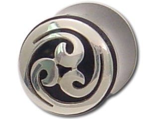Tribalectic Sterling Silver Design Plug: Infinite Wave