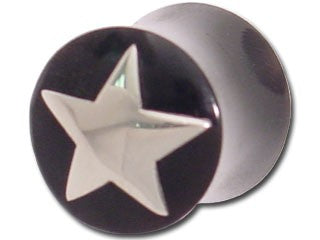 Tribalectic Sterling Silver Design Plug: Star