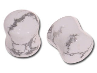 Tribalectic Single Howlite Stone Plug