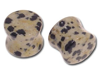 Tribalectic Single Jasper Delmation Stone Plug