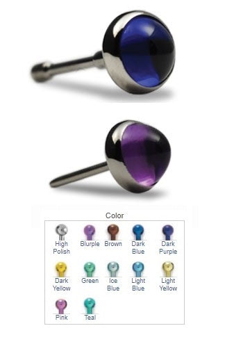 NeoMetal Titanium Threadless Cabochon Gem End