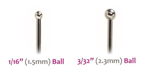 Industrial Strength SS Nostril Screw with Ball (SSNS)