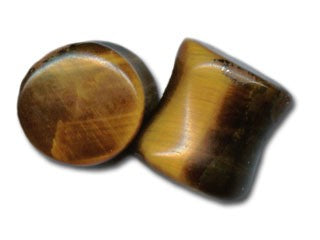 Tribalectic Single Tiger Eye Stone Plug