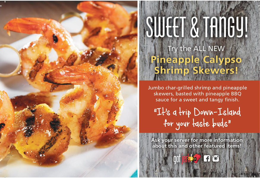 Pineapple Calypso Shrimp Skewers