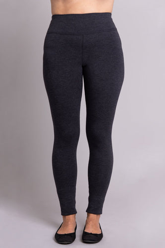 Dixie Leggings are fleece-lined, cozy, soft and warm, you will love them. Comfort and stretch, plus flocked lining that provides ultra-soft insulation against cold and damp. The fabric waistband means no binding and a smooth finish up to your waist. Flat locked seams stay tight, and a gusset prevents splitting.  Fabrication: 67% Bamboo, 28% Cotton, 5% Lycra  BLUE SKY colour granite $65.00