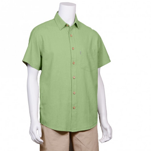 The Will Short Sleeve Button Up Hemp Shirt is a must have for your every day wardrobe, with wood buttons and a single pocket on the right. A great selection of colours, you will want more then one. Fabrication: 55% Hemp, 45% Organic Cotton Eco-Essentials Colour Celery Green $70.00