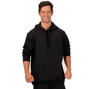 The Josh Pullover Hoodie is made with soft and warm Hemp Fleece. Soon to be your favorite sweatshirt it has a drawstring on the hood, kangaroo pockets and long sleeves with ribbed cuffs and hem. Fabrication: 55% Hemp 45% Organic Cotton -Fleece Eco-Essentials$90.00 colour black