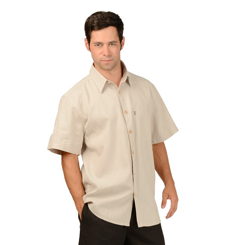 The Will Short Sleeve Button Up Hemp Shirt is a must have for your every day wardrobe, with wood buttons and a single pocket on the right. A great selection of colours, you will want more then one. Fabrication: 55% Hemp, 45% Organic Cotton Eco-Essentials Colour Oatmeal Brown $70.00