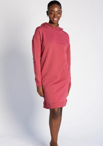 Slip into the Ariel Hoodie Dress with a pair of leggings for an effortless outfit this season. The Ariel Hoodie Dress has been designed with a styling front seam detail, a cozy hood, relaxed drop shoulder, and pockets to provide warmth, style, and practicality. TERRERA colour Deep Rose $115.00