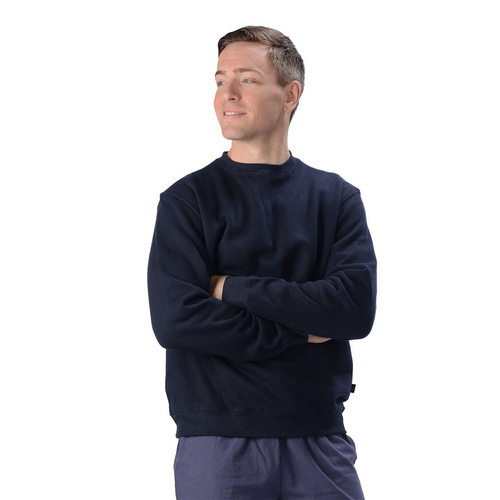 The Elisha Crew is your classic pullover sweatshirt, with ribbed cuffs and waistband. Made with soft and cozy Hemp fleece, it is a great sweatshirt for everyone! guy or girl, young or old, they will LOVE IT! Fabrication: 55% Hemp 45% Organic Cotton- Fleece Eco-Essentials Colour Navy $80.00