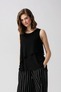 The Madison tank is soft and sassy with its chiffon accent. Great with a pair of capri pants or cute skirt. Fabrication: 95% Viscose from Bamboo 5% Spandex LNBF Colour Black $49.49