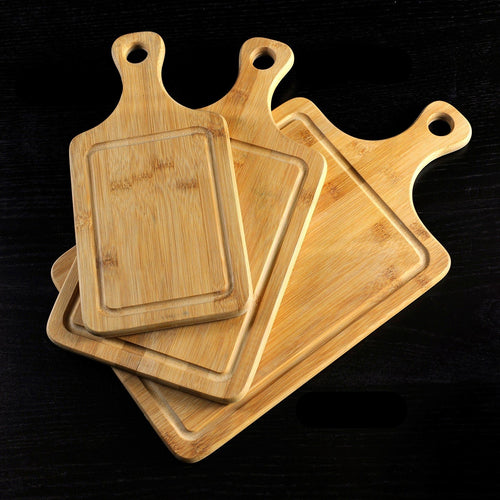 Made with Bamboo the Ridged Cutting Board comes in three sizes and has a ridge around the outside. Great for catching crumbs Small - 12