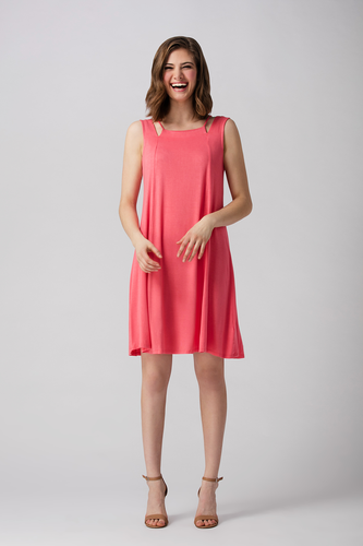 The LNBF Camille A-Line Tank Dress is light weight, breathable and has a flattering high cut-out neckline. Made for hot summer days and warm summer nights, throw on your jean jacket and this look is complete. You will Love your Camille A-Line Bamboo Tank Dress. Peony Pink 95% Viscose from Bamboo 5% Spandex