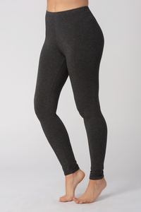 Suri Bamboo Leggings are comfortable, flexible and breathable. Made with oh-so-soft Viscose from Bamboo, this is a great gift for yourself, family or friends. Lightweight yet opaque, they are great to pair with a tunic, tank, t-shirt or blouse. You will Love your Suri Bamboo Leggings. Colour Charcoal Grey 94% Viscose from Bamboo, 6% Spandex