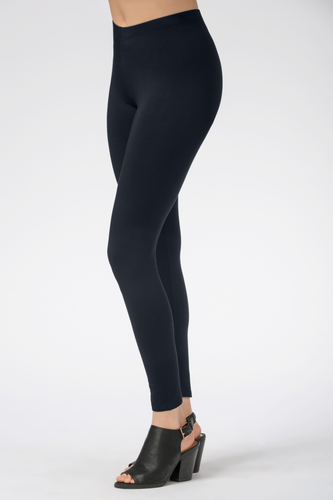 Suri Bamboo Leggings are comfortable, flexible and breathable. Made with oh-so-soft Viscose from Bamboo, this is a great gift for yourself, family or friends. Lightweight yet opaque, they are great to pair with a tunic, tank, t-shirt or blouse. You will Love your Suri Bamboo Leggings. Colour Midnight Blue 94% Viscose from Bamboo, 6% Spandex