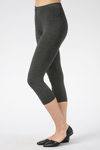 Suri Capri Bamboo Leggings are comfortable, flexible and breathable. Made with oh-so-soft Viscose from Bamboo, this is a great gift for yourself, family or friends. Lightweight yet opaque, they are great to pair with a tunic, tank, t-shirt or blouse. A little shorter for the summer, you will Love your Suri Capri Bamboo Leggings. Colour Charcoal Grey 94% Viscose from Bamboo, 6% Spandex $40.00