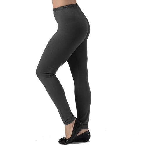 Bamboo Leggings are super soft, luxurious and moisture wicking. With a mid-rise and a single seam for comfort, they are great for work rest or play. The most comfortable leggings you will ever own. You will LOVE your Bamboo Leggings. Proudly made in Canada 92% Rayon from Bamboo, 8% Spandex ECO-ESSENTIALS Colour Charcoal Grey $40.00