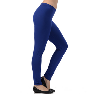 Bamboo Leggings are super soft, luxurious and moisture wicking. With a mid-rise and a single seam for comfort, they are great for work rest or play. The most comfortable leggings you will ever own. You will LOVE your Bamboo Leggings. Proudly made in Canada 92% Rayon from Bamboo, 8% Spandex ECO-ESSENTIALSColour Indigo Blue $40.00
