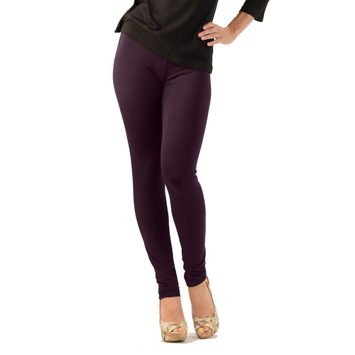 Bamboo Leggings are super soft, luxurious and moisture wicking. With a mid-rise and a single seam for comfort, they are great for work rest or play. The most comfortable leggings you will ever own. You will LOVE your Bamboo Leggings. Proudly made in Canada 92% Rayon from Bamboo, 8% Spandex ECO-ESSENTIALS Colour Plum Purple $40.00