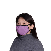 Homemade style Eco-friendly Hemp Mask, double layered, breathable, moisture wicking, washable and lots of colours to choose from. Proudly Made in Canada Fabrication: 55% Hemp 45% Organic Cotton String 92% bamboo 8% Spandex ECO-ESSENTIALS  Colour Lilac Purple