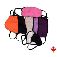 Homemade style Eco-friendly Hemp Mask, double layered, breathable, moisture wicking, washable and lots of colours to choose from. Proudly Made in Canada Fabrication: 55% Hemp 45% Organic Cotton String 92% bamboo 8% Spandex ECO-ESSENTIALS